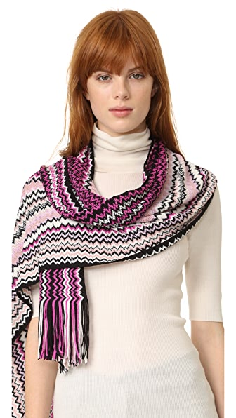 Missoni Zigzag Scarf - Pink Multi at Shopbop