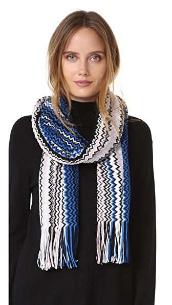 Missoni Zigzag Scarf - Blue Multi at Shopbop