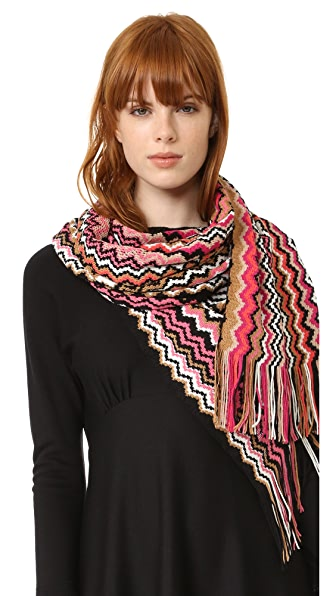 Missoni Stole Scarf - Red Multi at Shopbop