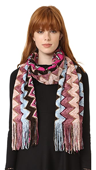 Missoni Zigzag Chenille Scarf - Pink Multi at Shopbop