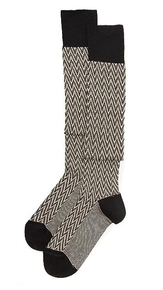 Missoni Thigh High Zigzag Sock Set - Black at Shopbop