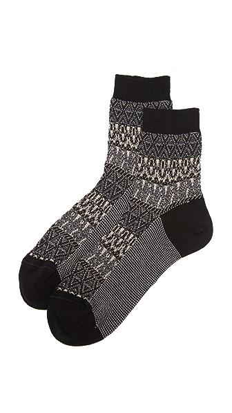 Missoni Zigzag Socks - Black at Shopbop