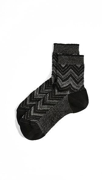Missoni Chevron Ankle Socks at Shopbop