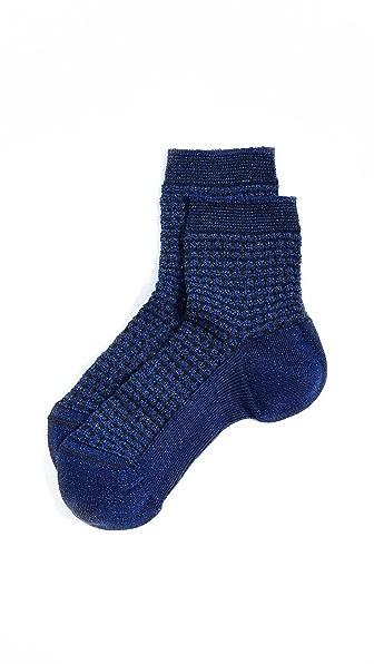 Missoni Waffle Ankle Socks In Blue