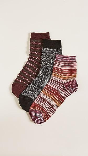 Missoni Ankle Sock Box Set of 3