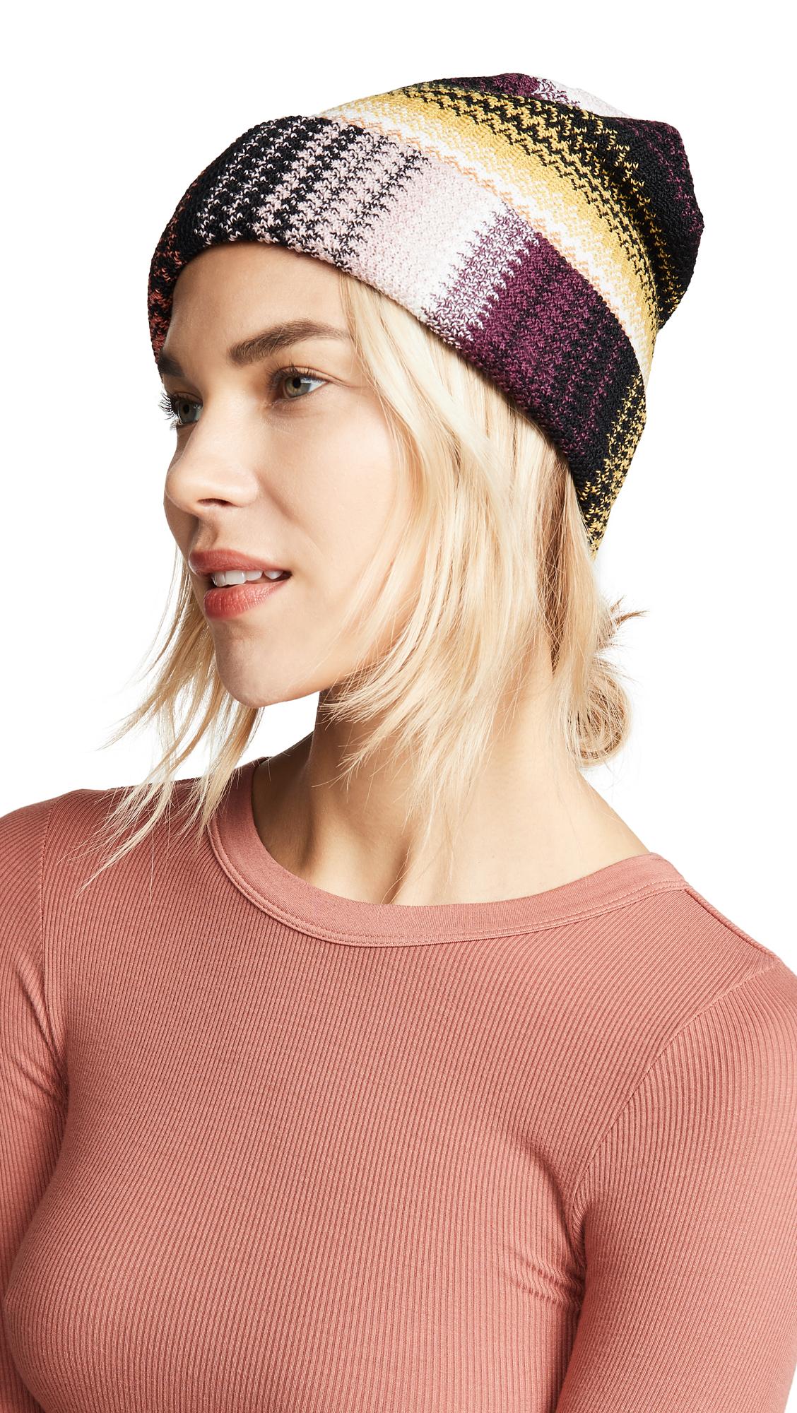 Missoni Striped Hat - Multi Brown