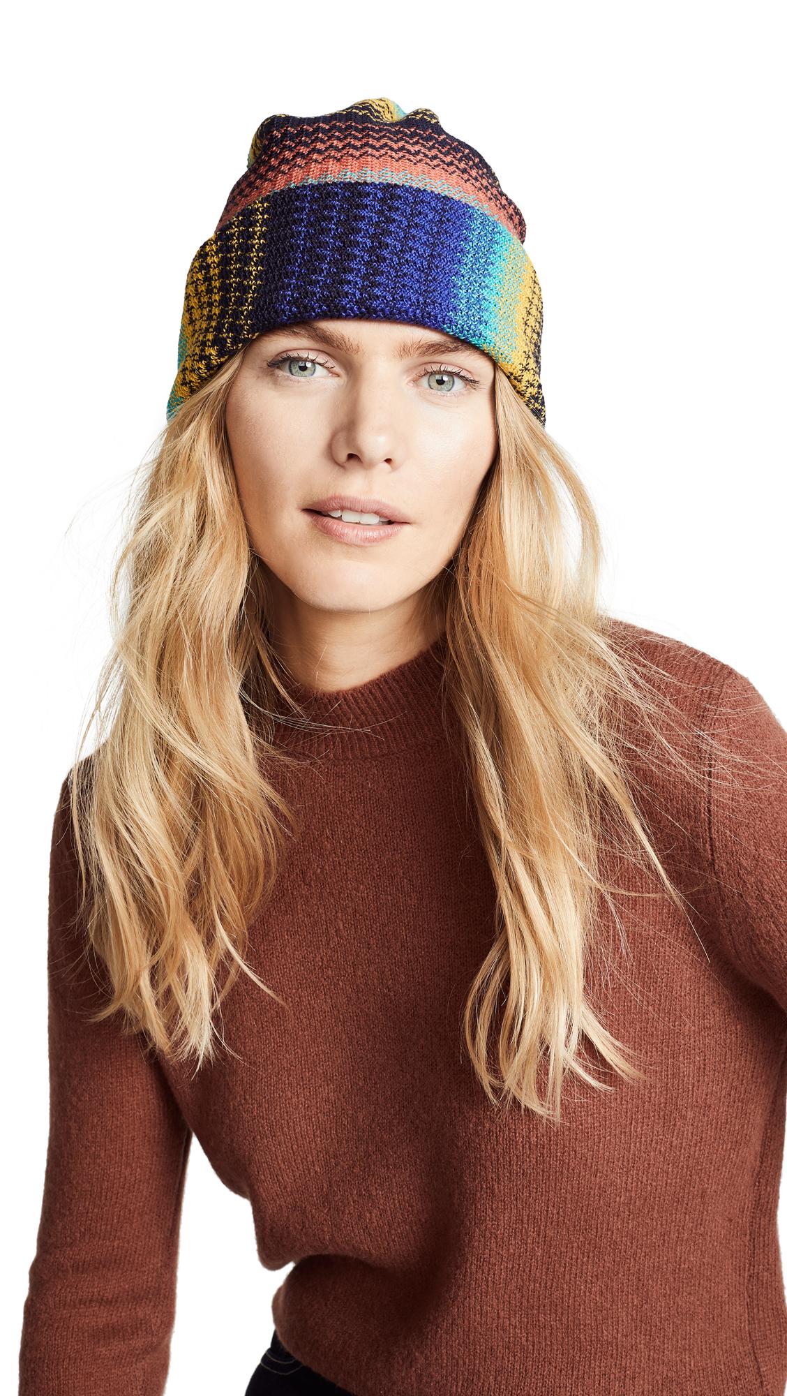 Missoni Striped Hat - Multi Blue/Yellow