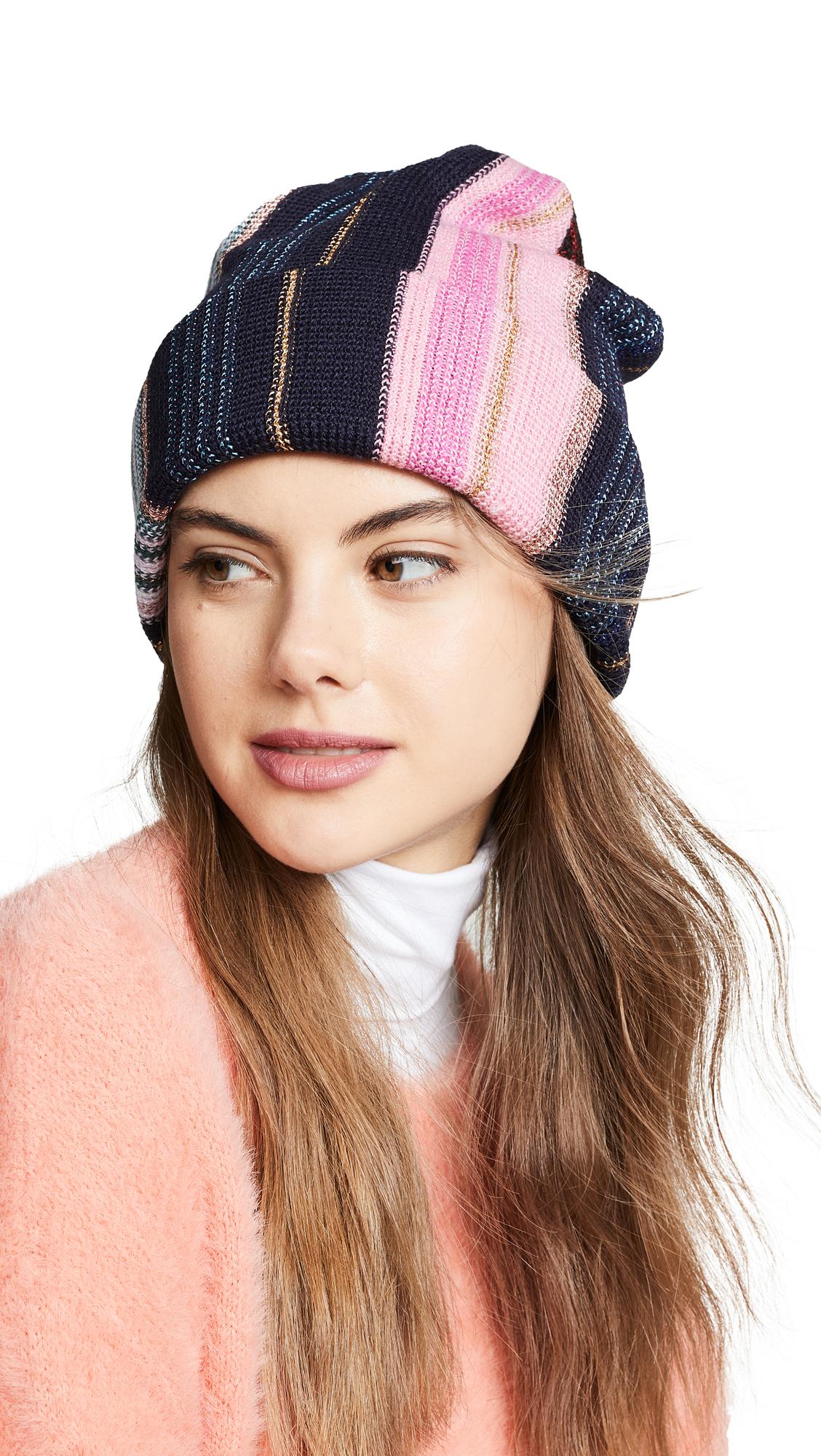 Missoni Narrow Striped Hat - Pink/Blue