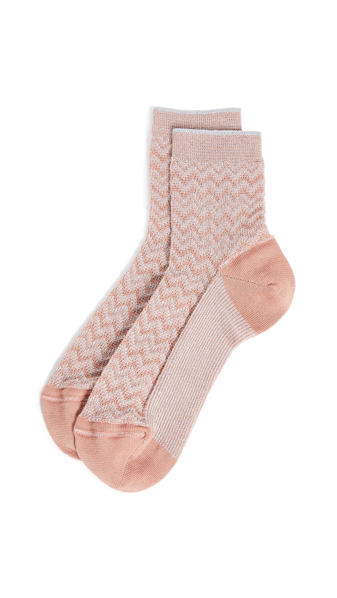 Missoni Short Socks - Pink