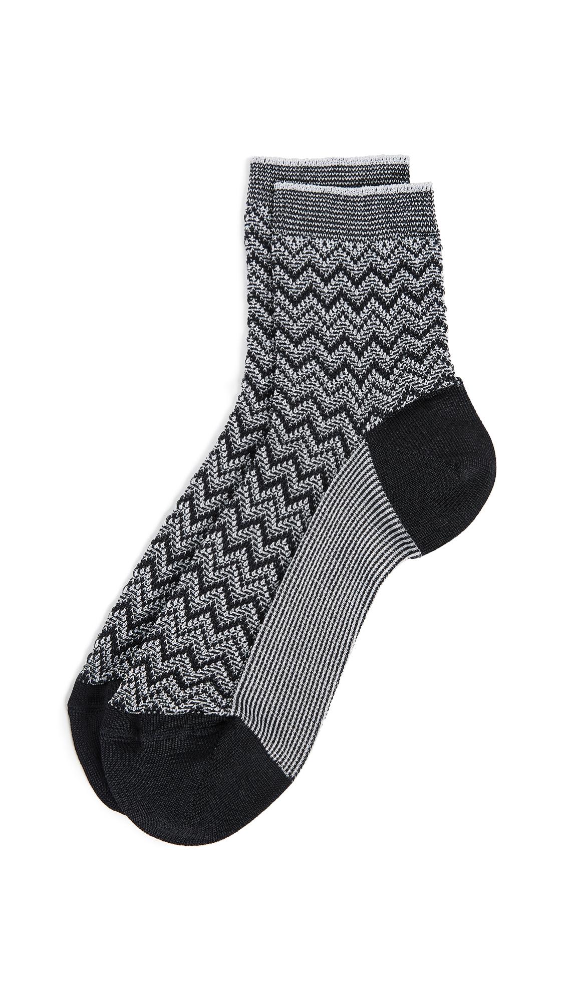 Missoni Short Socks - Silver