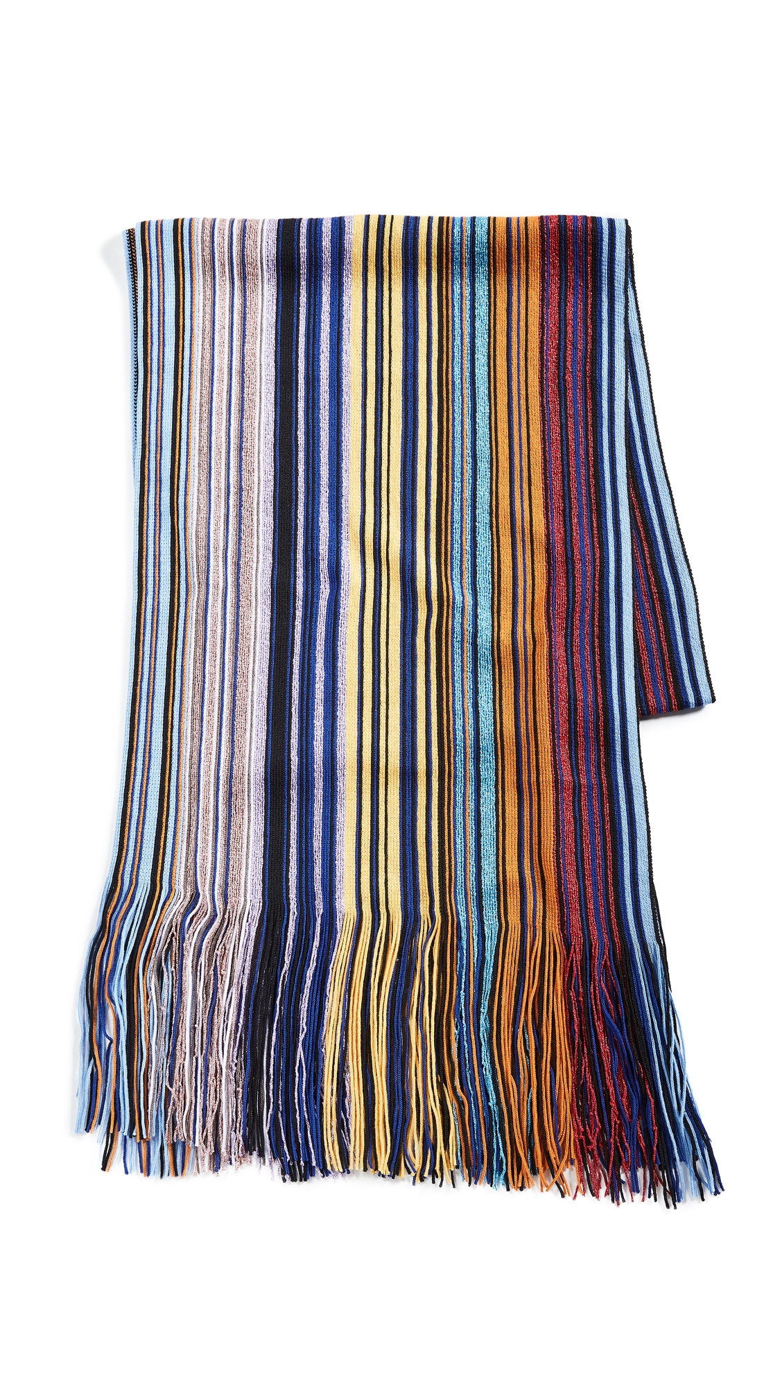 Missoni STRIPED METALLIC SCARF