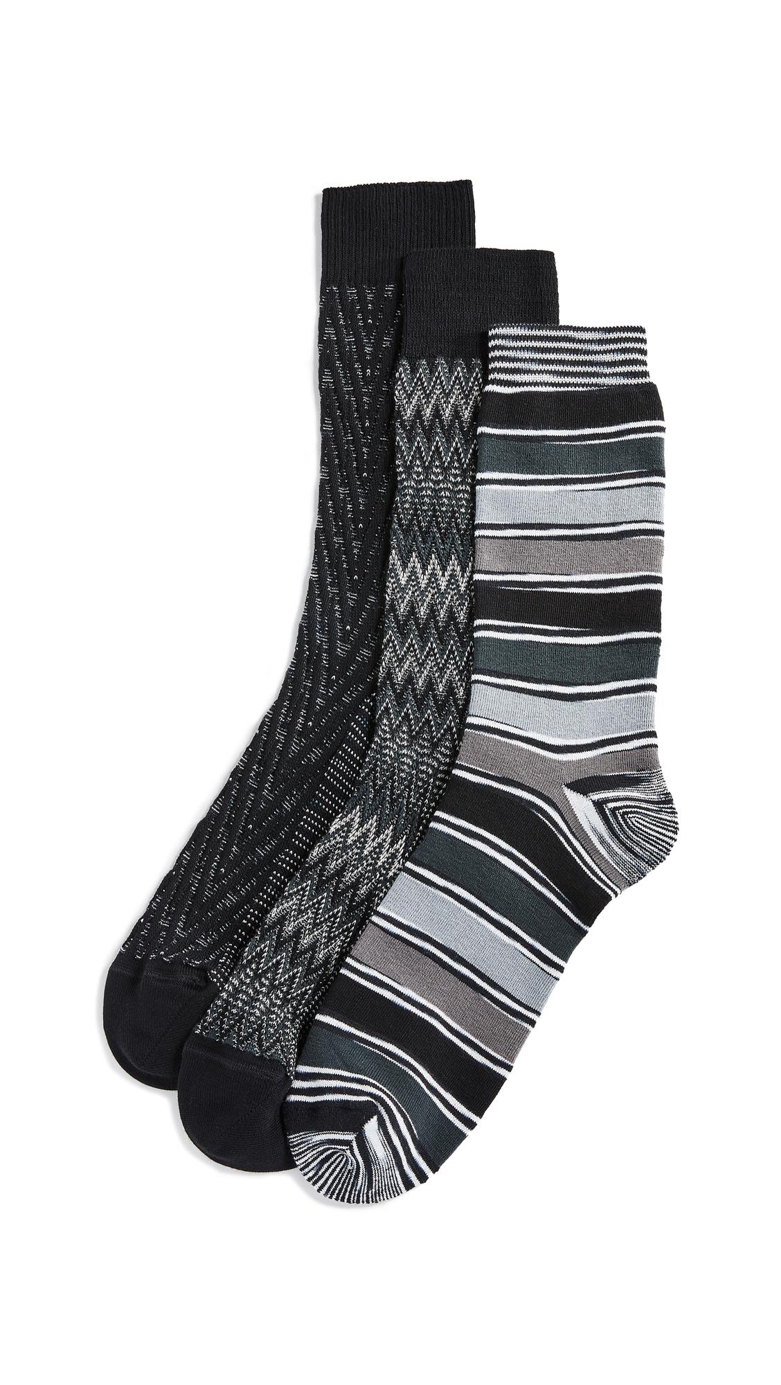 Missoni Trio Socks Gift Box - Black Multi