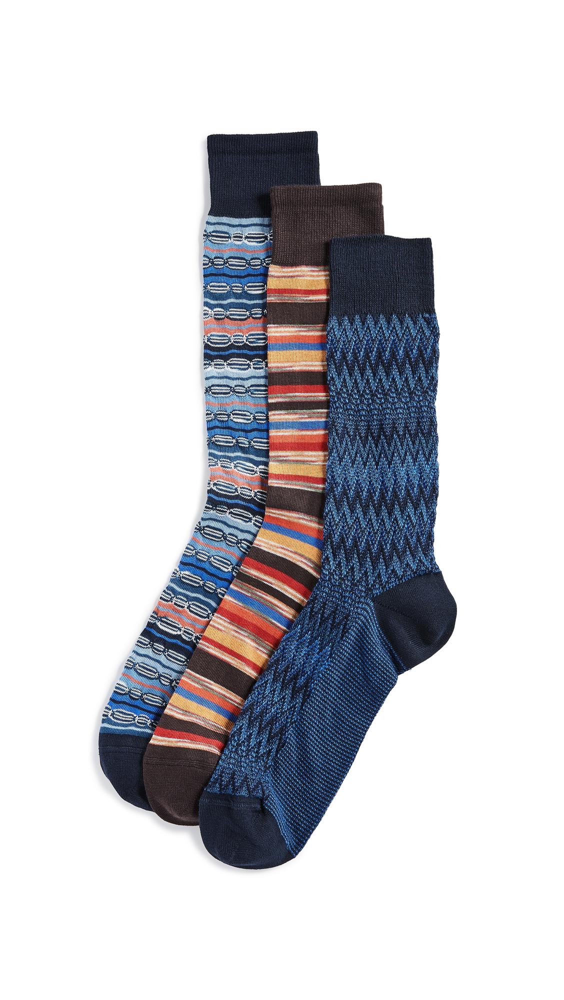Missoni Trio Socks Gift Box - Blue/Red Multi