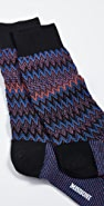 Missoni Micro Zig Zag Print Socks