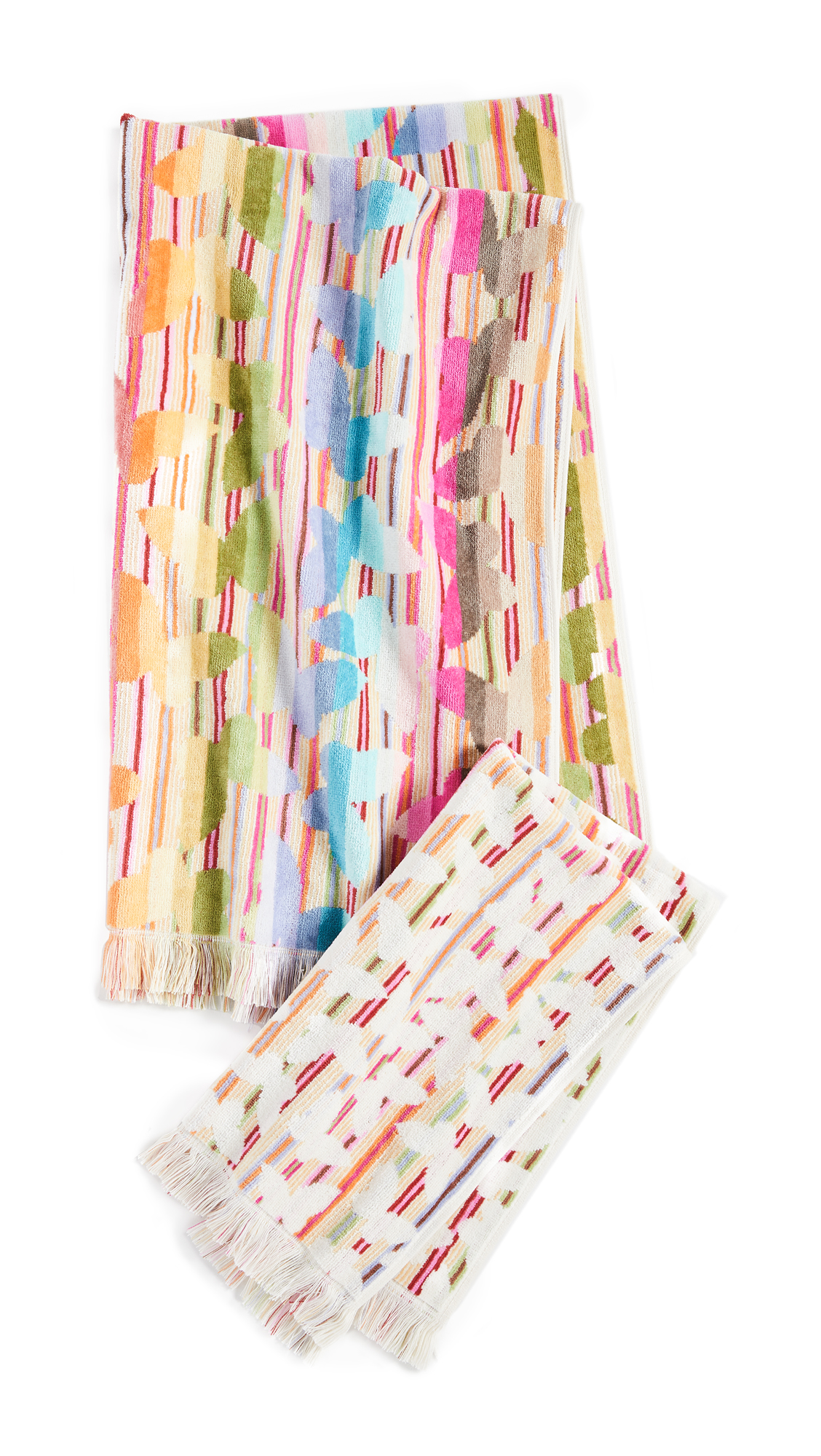 Missoni Josephine 2 Piece Towel Set In Multi Pink