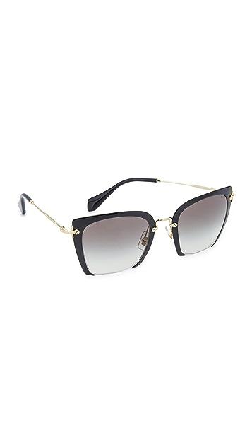 Miu Miu Cut Frame Sunglasses