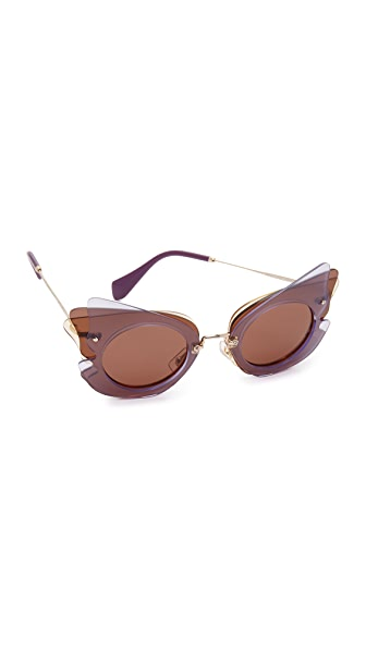 Miu Miu Layered Cat Eye Sunglasses