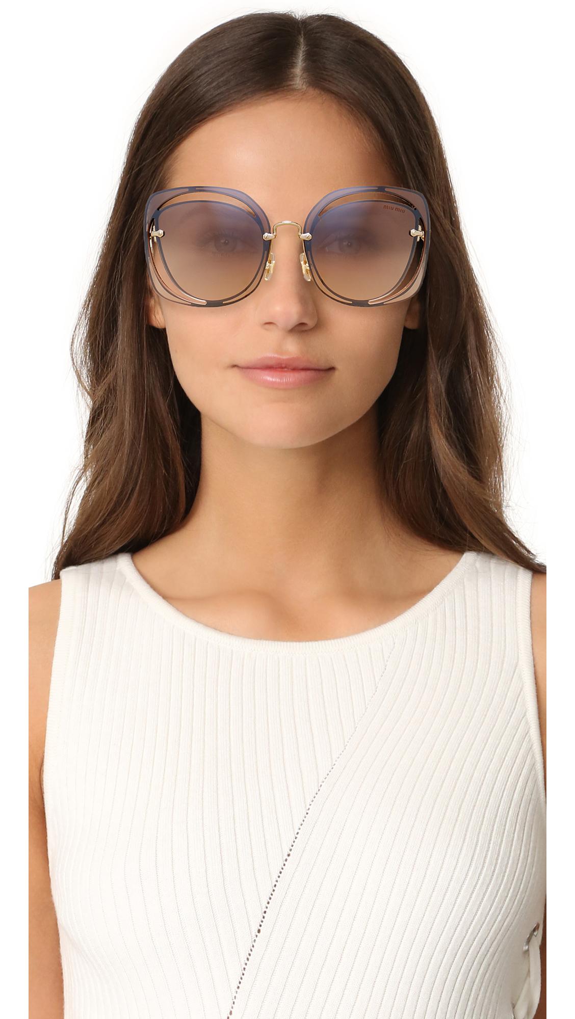 899f3b3a18c Miu Miu Cut Out Square Sunglasses