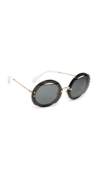 Miu Miu Reveal Sunglasses - Black/Grey