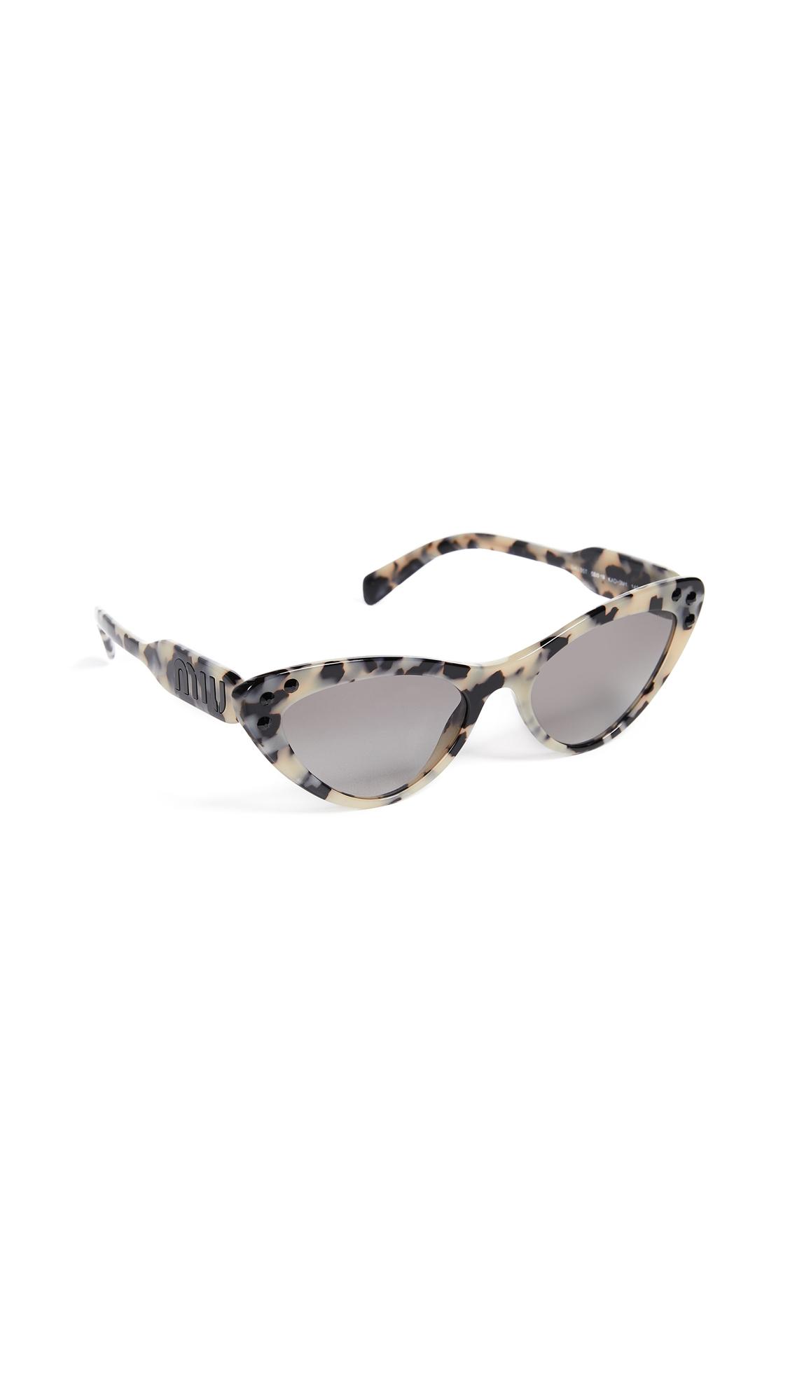 Crystals Cat Eye Sunglasses in Sand Havana Moro/Grey Gradient