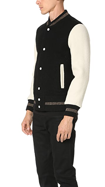 Marc Jacobs Brushed Felt Bomber Jacket