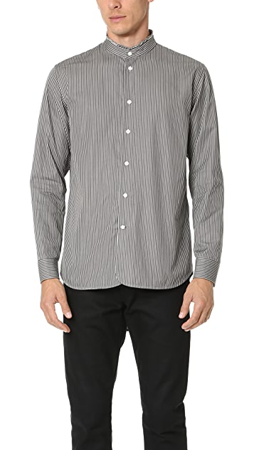 Marc Jacobs Micro Stripe Mandarin Collar Shirt
