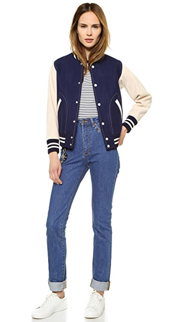 Marc Jacobs Shrunken Varsity Jacket