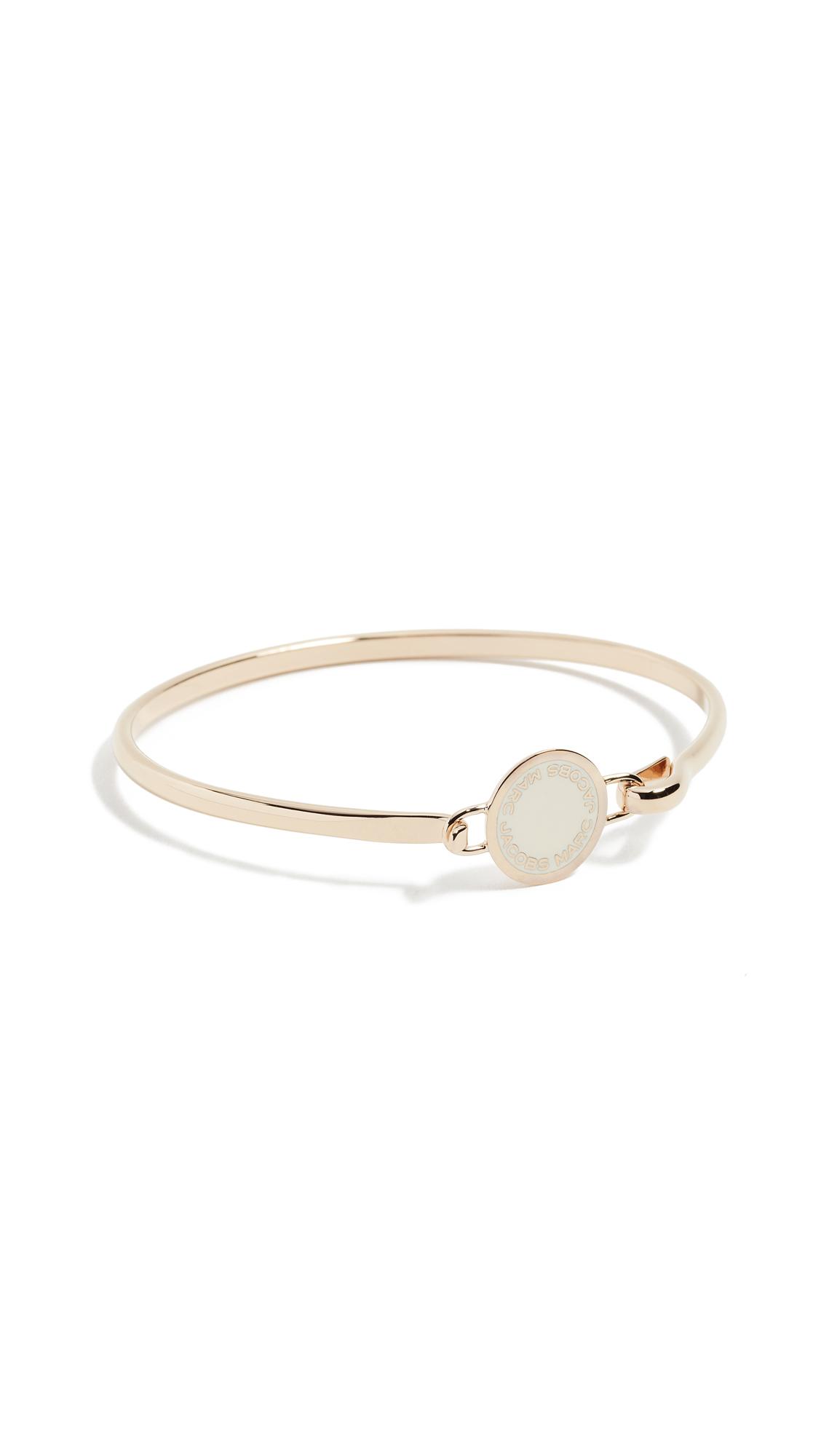 Marc Jacobs Enamel Logo Disc Hinge Bracelet - Cream