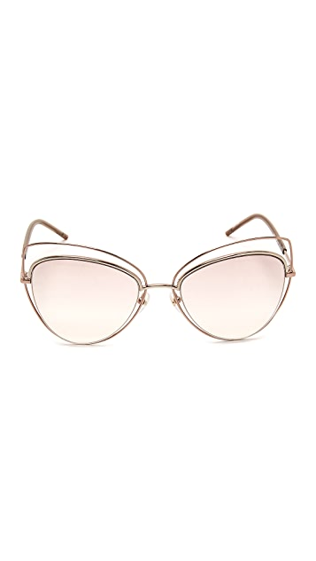 Marc Jacobs Double Wire Double Rimmed Cat Eye Sunglasses