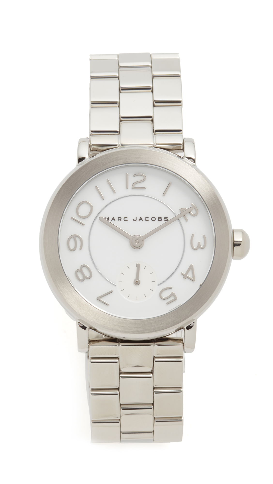 Marc Jacobs Riley Watch - Silver/White