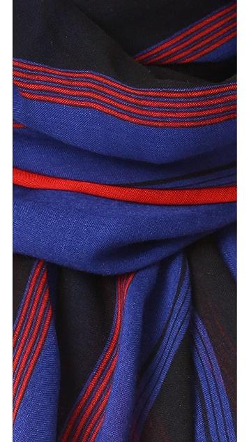 Marc Jacobs Multi Stripe Oblong Scarf
