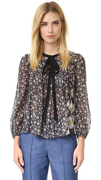 Marc Jacobs Блуза с завязками в деревенском стиле