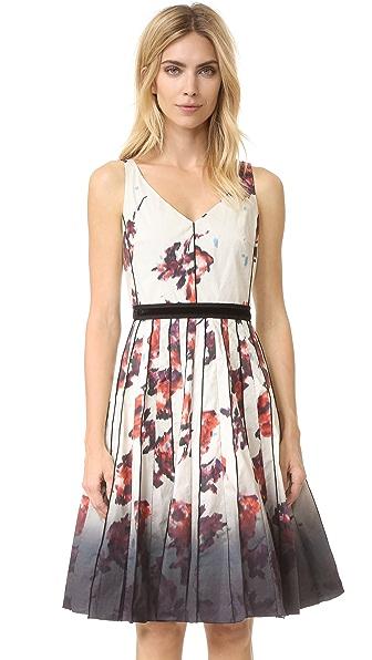 Marc Jacobs Платье с V-образным вырезом и цветочным рисунком