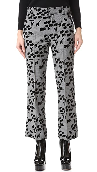Marc Jacobs Animal Cropped Bowie Pants - Plaid Multi
