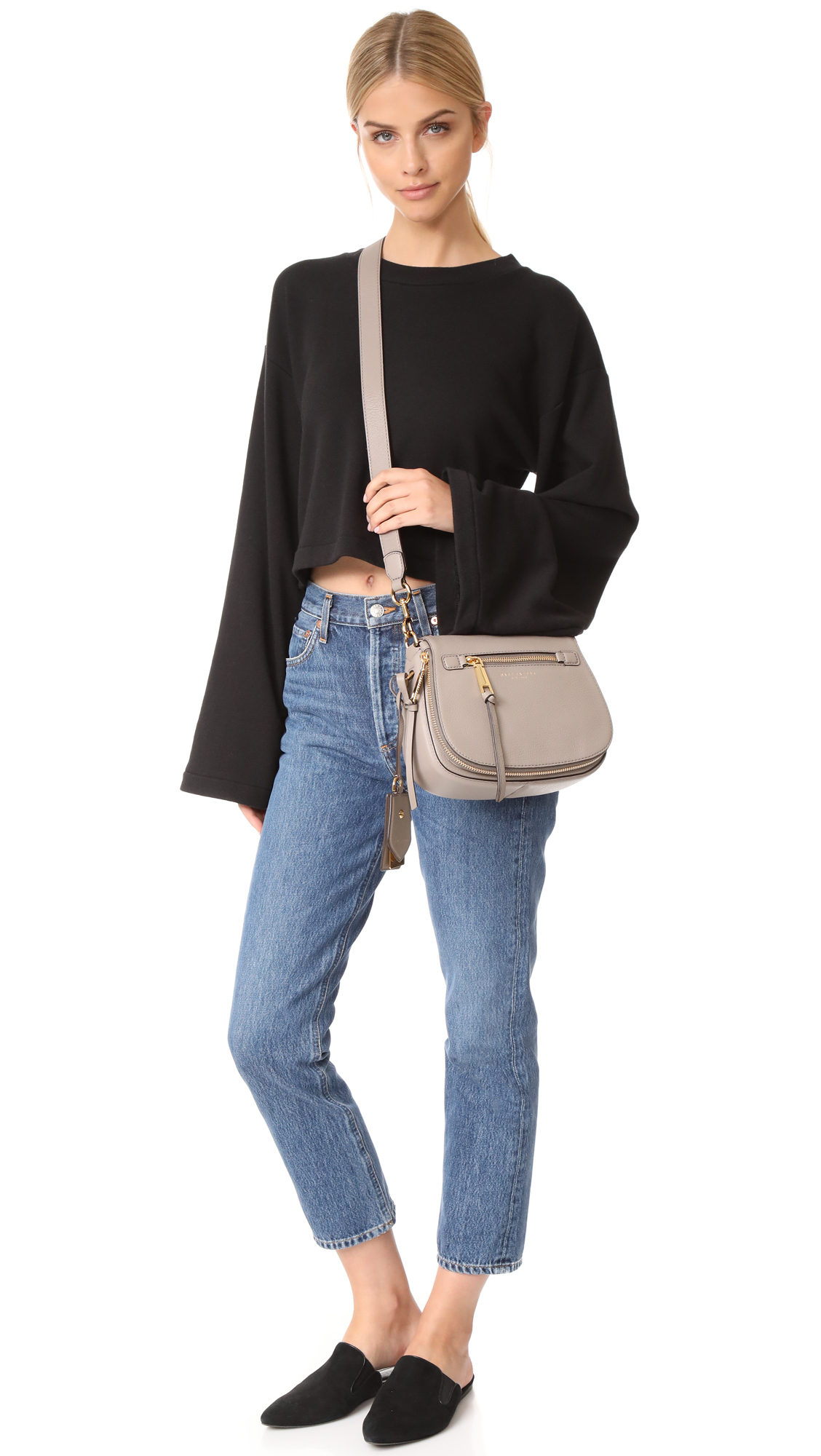 ca3e9525ff302 Marc Jacobs Recruit Small Saddle Bag