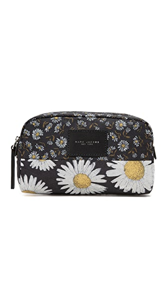 Marc Jacobs B.Y.O.T Mixed Daisy Flower Large Cosmetic Case - Black