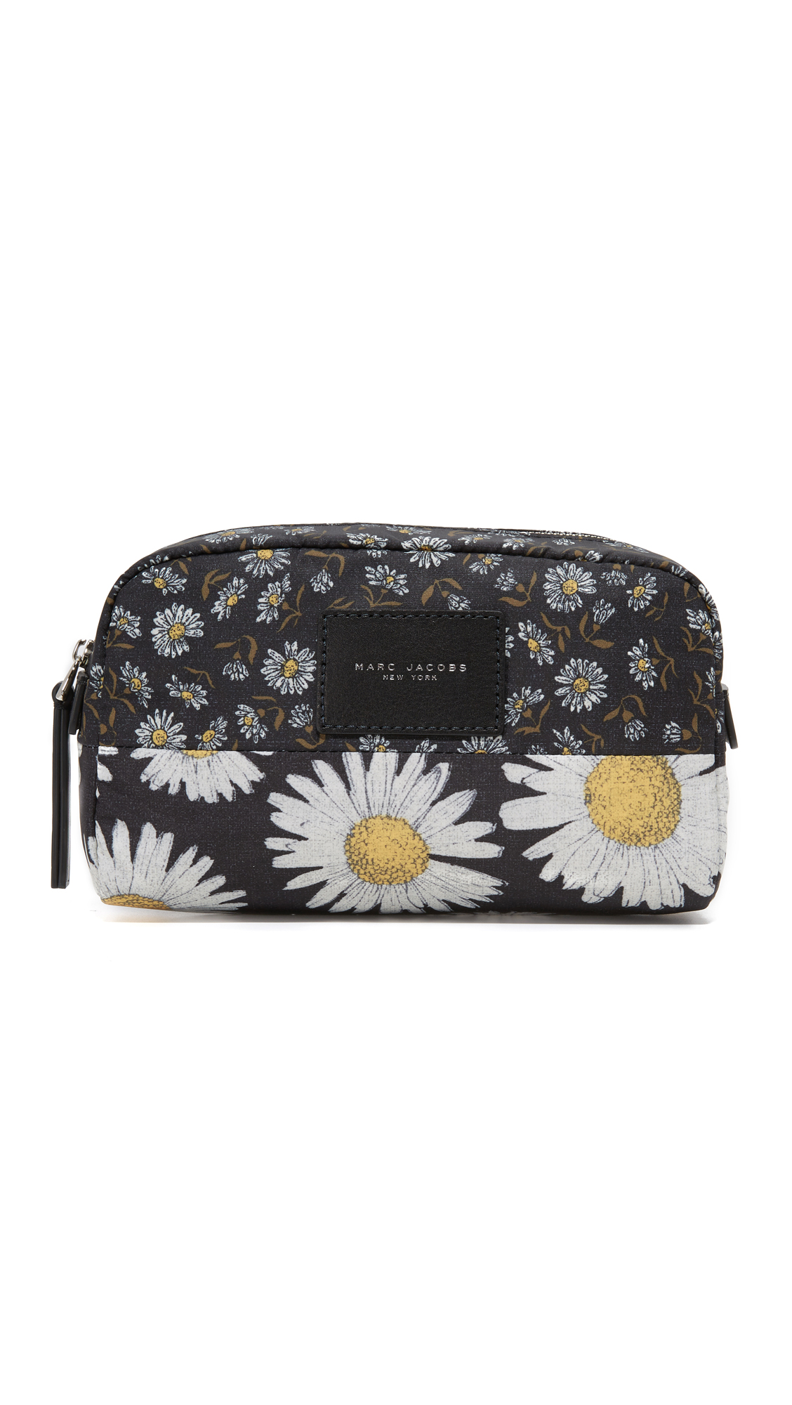 marc jacobs female 188971 marc jacobs byot mixed daisy flower large cosmetic case black