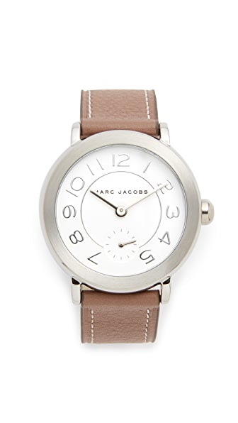 Marc Jacobs Riley Watch - Stainless Steel/White/Cement