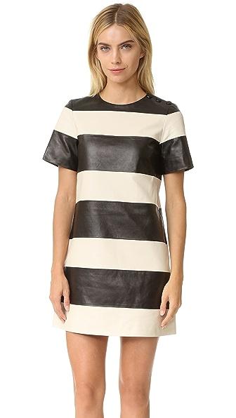 Marc Jacobs Leather Stripe Dress