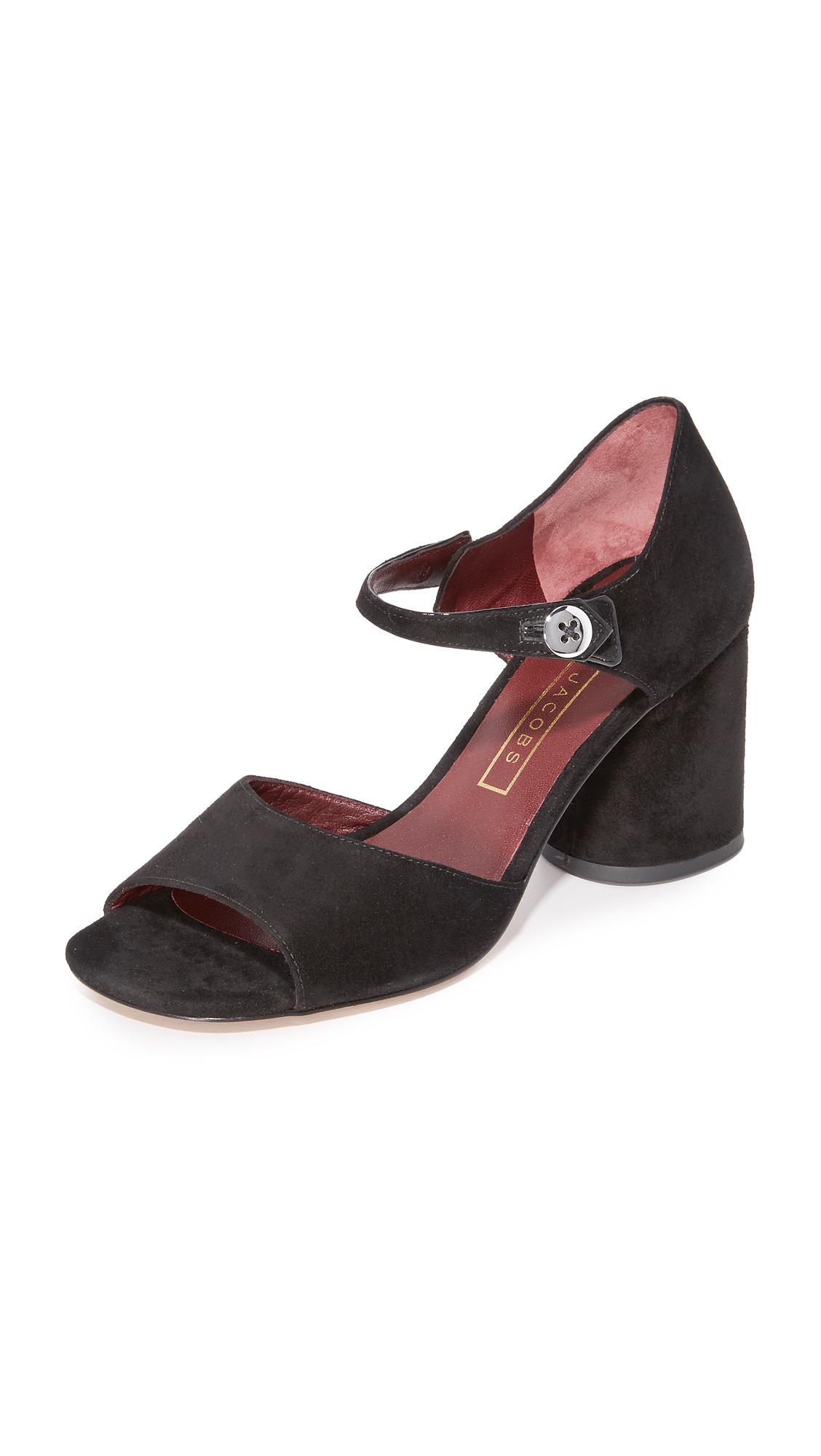 marc jacobs female marc jacobs sloan button sandals black