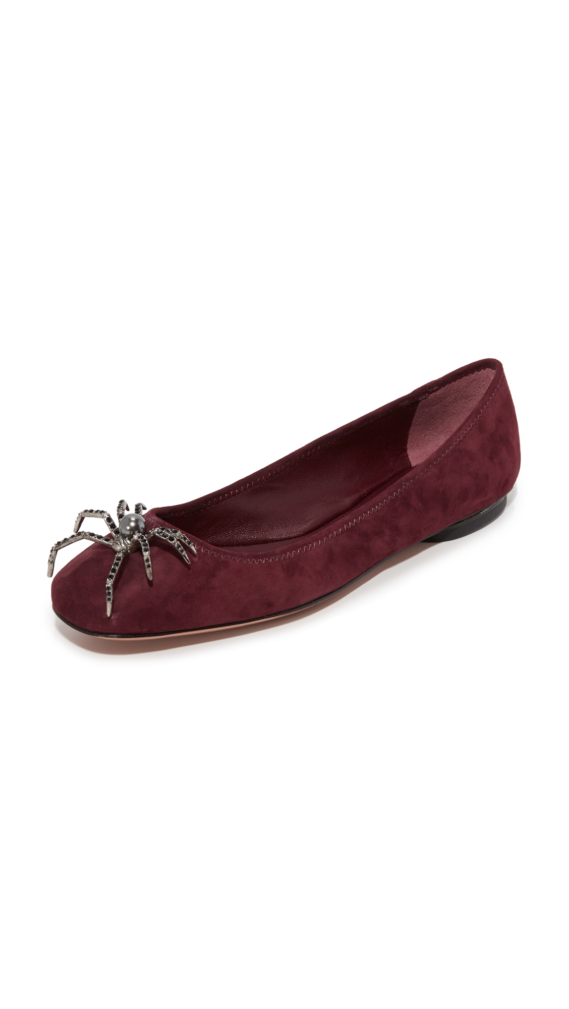 Marc Jacobs Molly Spider Flats - Bordeaux