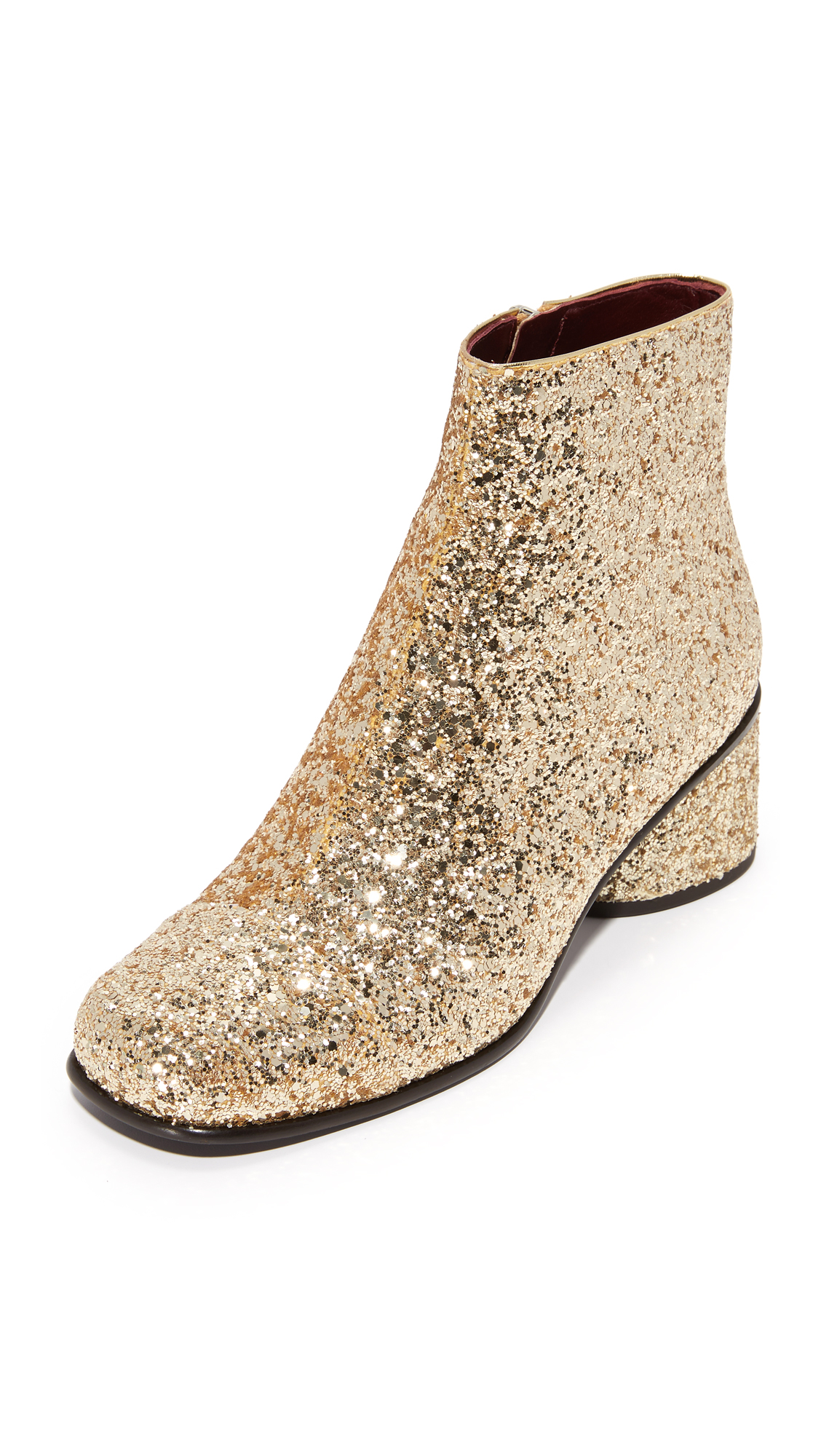 Marc Jacobs Camilla Ankle Booties - Gold