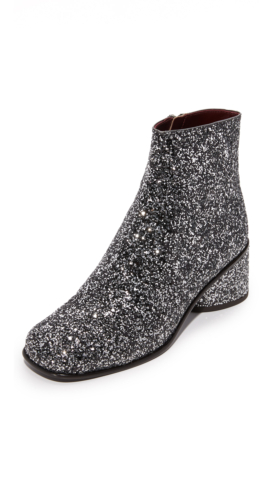 Marc Jacobs Camilla Ankle Booties - Silver Multi