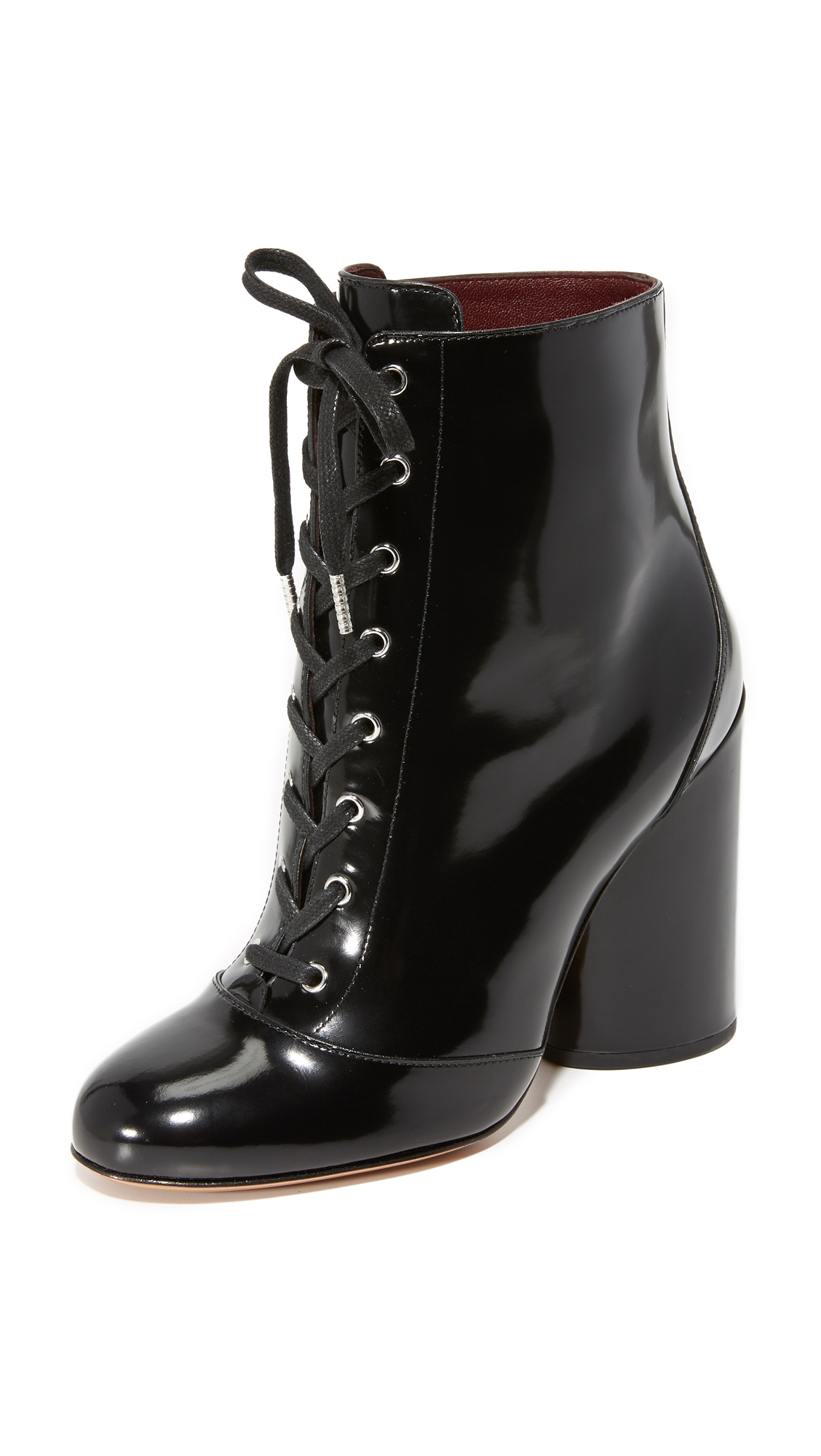 Marc Jacobs Tori Lace Up Booties - Black