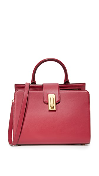 Marc Jacobs West End Small Top Handle Satchel - Deep Maroon
