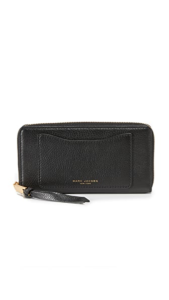 Marc Jacobs Recruit Standard Continental Wallet - Black