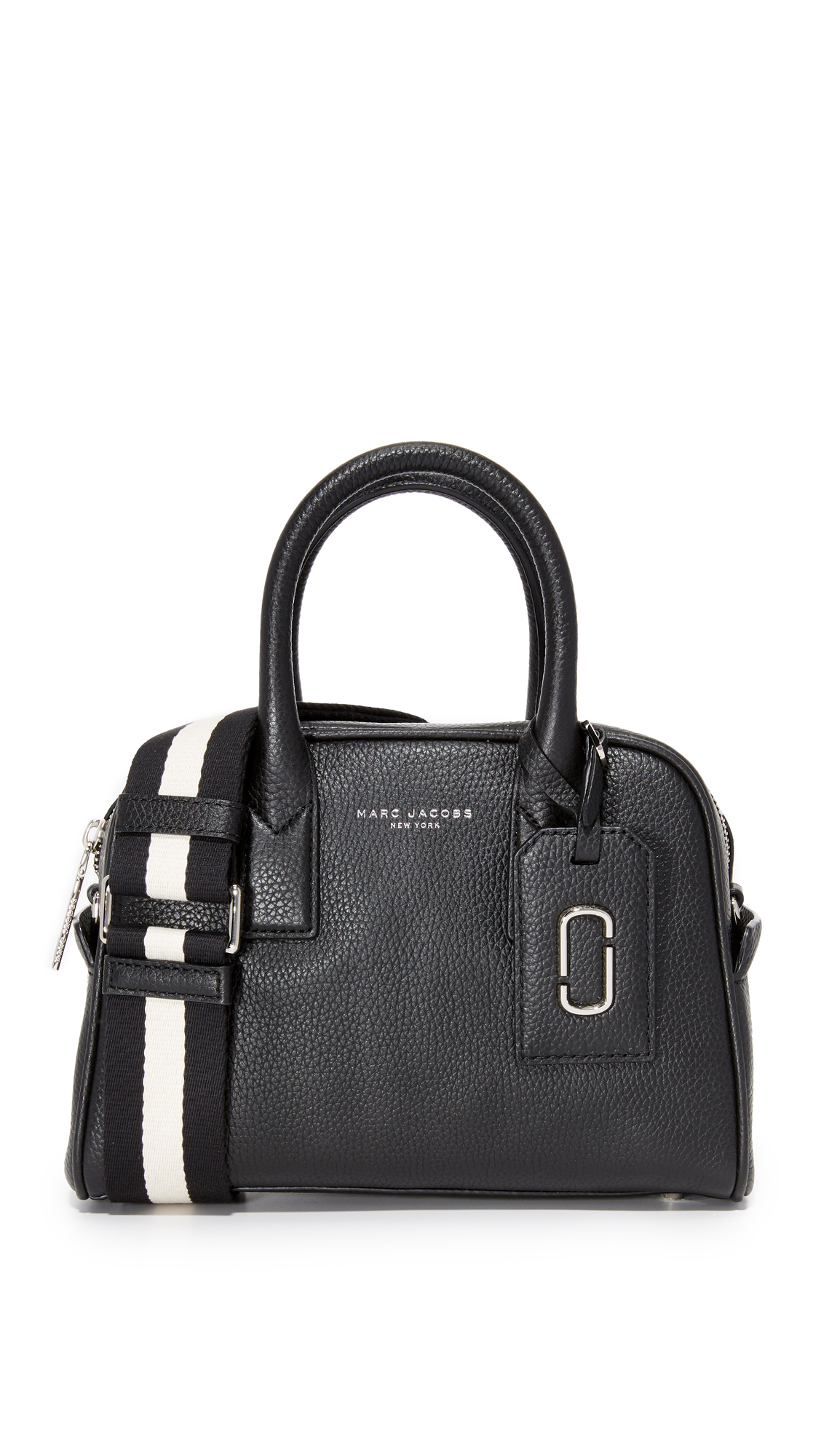 marc jacobs female 188971 marc jacobs gotham small bauletto bag black