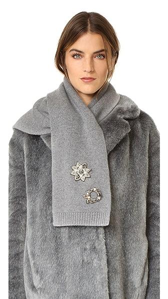 Marc Jacobs Кашемировый шарф с декоративной отделкой