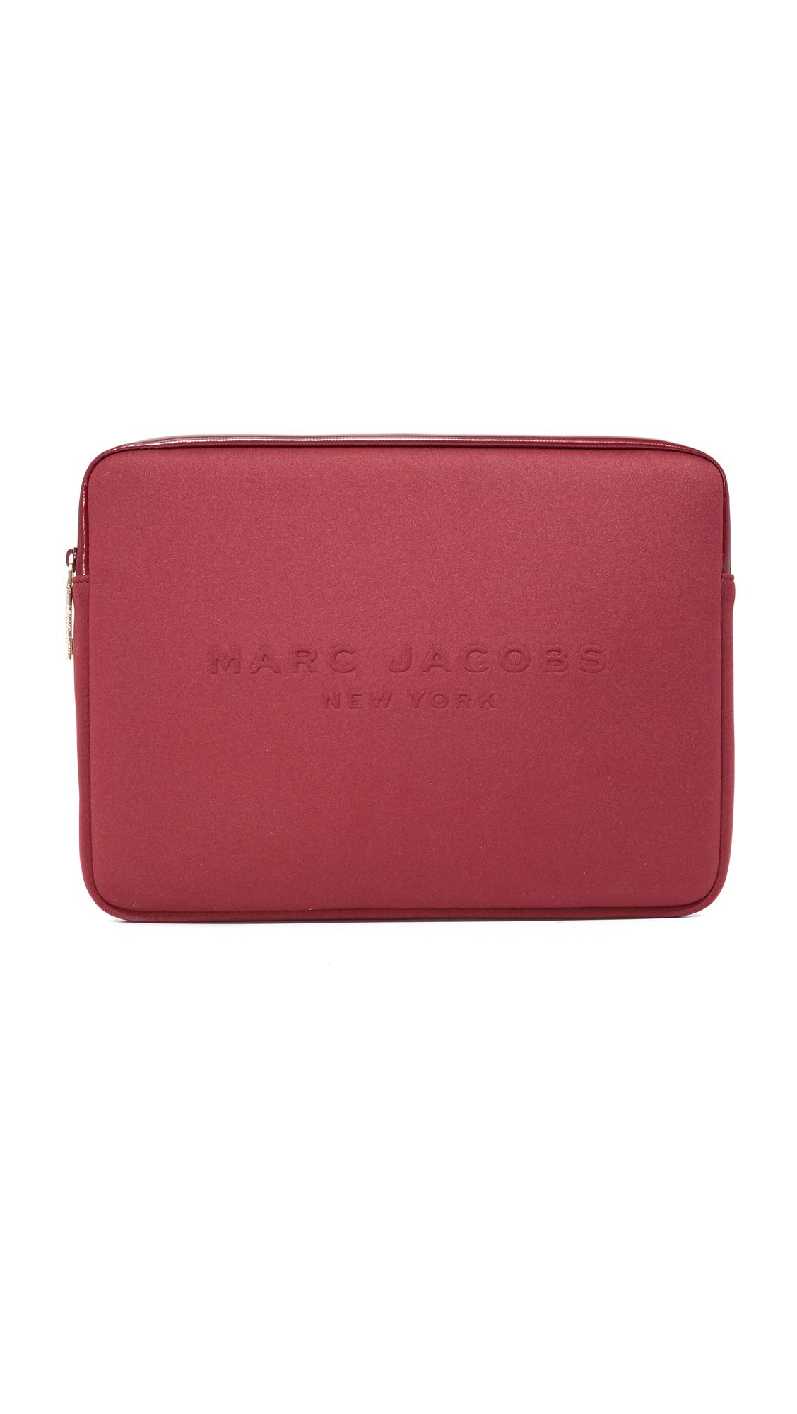 marc jacobs female 124072 marc jacobs 13 neoprene computer case dark cherry
