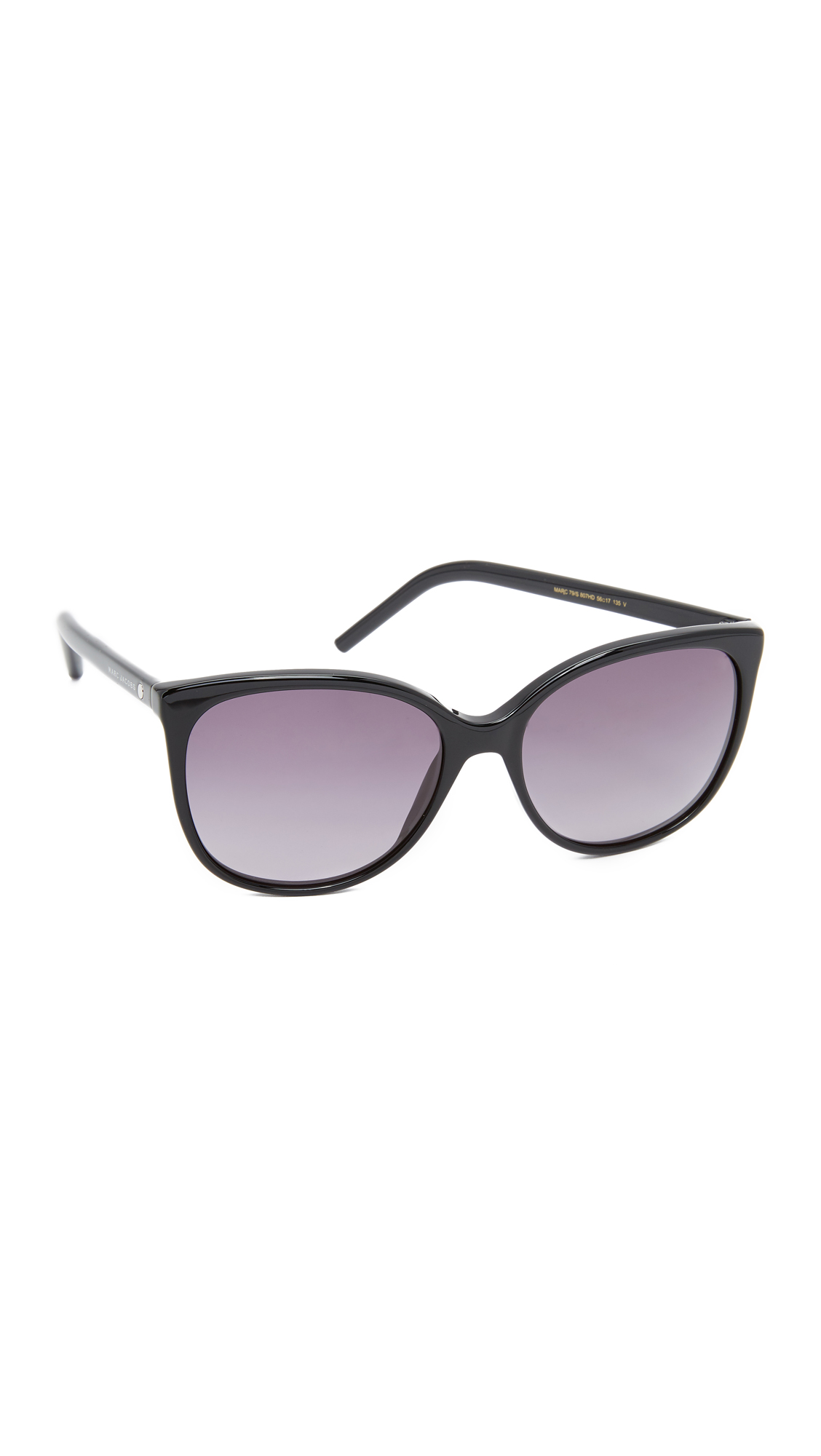 marc jacobs female 188974 marc jacobs easy to wear cat eye sunglasses blackgrey